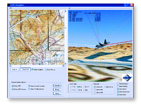 CAST-170 Terrain Obscuration Program Screen